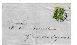 Mex184/  MEXICO - Brief,  Hidalgo, 2 Reales, 26.8.1858, Bezirks Aufdruck. Erste Markenausgabe Der Republik - Mexiko