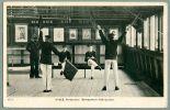 Battleship HMS Britannia, Sailor Semaphore Instruction Ca 1910 Vintage Ship Postcard (O-87) - Warships