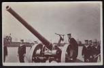 4 - 7 Inch Naval Gun With Sailors ~ B&W R/P ~ 1912 - Equipment
