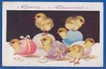 "Fantaisie; Ostern; Paques; Küken; Easter Greetings; Florence House; Barnes, S.W.""Comique"" Series 6152; 1931 - Pâques"