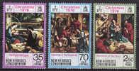 NEW HEBRIDES - BRITISH (VANUATU) 1976 Sc#211-13 Christmas ´76 Complete Set MNH - Vanuatu (1980-...)