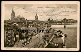 ALTE POSTKARTE KÖLN RHEINWERFT DAMPFER WERFT STRASSENBAHN Tram Tramway Schiff Steamship Cöln Cologne Keulen Cpa Postcard - Koeln
