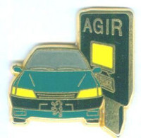 Pin's AGIR - PEUGEOT 306 - Signé Decat - Zamac - 045 - Peugeot