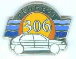 Pin's PEUGEOT 306 -  Zamac - Metargent - 055 - Peugeot