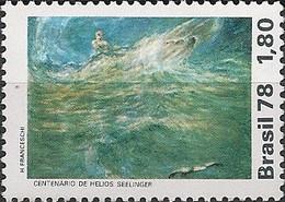 BRAZIL - CENTENARY OF BIRTH OF HELIOS SEELINGER, PAINTER 1978 - MNH - Arte