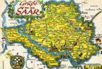SAAR - ALLEMAGNE  - BELLE CPSM EN COULEUR. - Germany