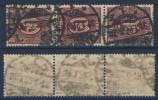 Deutsches Reich Dienst Nr. 66 b gestempelt used Dreierstreifen / Infla gepr�ft