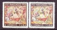 C Uba 588-9    **  CHRISTMAS - Cuba