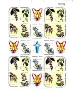 Cuba 1346 / 60 Noël 1969 / Fleurs ( Feuilles Complètes De 4 Séries ) - Ongebruikt