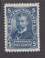 Newfoundland 1897 5c Blue SG90  MH - Newfoundland