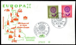 07224) BRD - Michel 445 / 446 - FDC - CEPT 64 - BRD