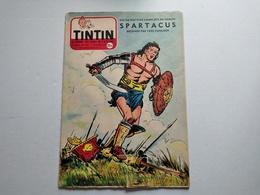 TINTIN N° 367 COUVERTURE DE FRED FUNCKEN ( SPARTACUS Histoire De 4 Pages Inédite) - Tintin