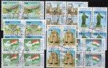 Natur/Denkmal 1993 Unabhängigkeit Von Tadschikistan 15/21 In 7x 4-Block O 24€ Oper Festung Flagge Map Flag Sheet Bf GUS - Tadjikistan