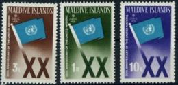 K21715-  Set MNh Maldive Islands UN Flag 1965 Sc. 164-166 - UNO