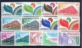 1976-80, Le Conseil De L'Europe, L'UNESCO,  S.50/62**  Cote 14 €,  ++  Postfrich ++ - Service