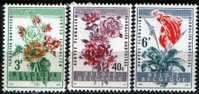 BÉLGICA / BELGIUM: Mi #1179-81 Yv #1122-24 Flores (1960) MNH - Belgium