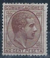 ES195-L3116.España.Spain.Espagne.ALFONSO  Xll  1878 (Ed 195*).con Charnela. BONITO - Nuevos