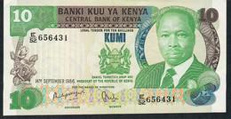 KENYA   P20e   10   SHILLINGS    1986    AU+ - Kenya