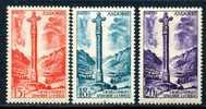 Andorre -1955-58-Yt 146/147/148*-Paysages De La Principauté - Neufs