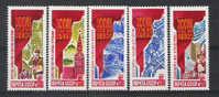 Rusland 1986 Y&T Nr° 5363/67** - Ungebraucht