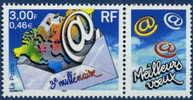 3365  3eme Milénaire Avec Vignette  Neuf **  2000 - Personnalisés