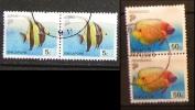 Singapore 2001 Pesci Fish 5c & 50c Coppia Pair - Singapore (1959-...)