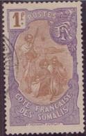 COTE SOMALIS  N°80 OBLITERE TBE - Côte Française Des Somalis (1894-1967)