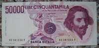 BANCONOTA DA 50.000 LIRE ITALIA BERNINI 1° TIPO SERIE (C) IN FDS - - [ 2] 1946-… : Repubblica