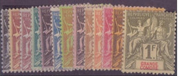 GRANDE COMORE N°1/13* NEUF AVEC CHARNIERE BE - Grote Komoren (1897-1912)
