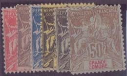 GRANDE COMORE N°14/19* NEUF AVEC CHARNIERE BE - Grote Komoren (1897-1912)