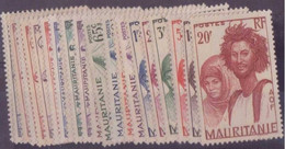 ⭐ Mauritanie - YT N° 73 à 94 * - Neuf Avec Charnière - 1938 ⭐ - Ungebraucht