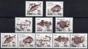 Seltene Fische 1995 Korea 3765/9,5-ZD+Kleinbogen O 111€ Bloque Hojita Hb Bloc Fauna M/s Exotic Fish Sheetlet Bf Corea - Corée Du Nord
