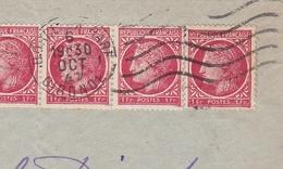 Bande De 6 YT# 676 Rose Rouge 1F Cérès De Mazelin 1947 Bordeaux Gironde - 1945-47 Cérès Van Mazelin