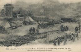 Guerre 1870 1871 Butte Montmartre Dessin Siege De Paris Tour Malakoff - Other Wars