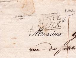 Lettre Restauration 1818 Chambre De Commerce De Bordeaux Gironde - 1801-1848: Précurseurs XIX