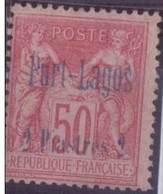PORT-LAGOS N°5* AVEC CHARNIERE NEUF BE - Puerto Lagos (1893-1931)