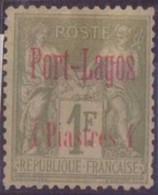 PORT-LAGOS N°6* AVEC CHARNIERE NEUF BE - Puerto Lagos (1893-1931)