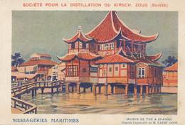 Shanghai   Maison De Thé  Aquarelle Sandy Hook, Pub Messagerie Maritimes , Kirsch Zoug - Chine
