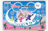 Carte Prépayée Japon (123) *  DISNEY JAPAN * TRAIN TEIN RESORT LINE  *  PREPAID CARD * FILM MOVIE CINEMA KINO - Disney