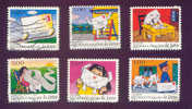 FRANCE = TIMBRES POSTE SERIE N° AA 9 à AA 14 - Usati