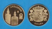 ESPAÑA / SPAIN   MEDALLA  ORO / GOLD    SC/UNC  PROOF  ANDALUCIA    DL-7134 - España