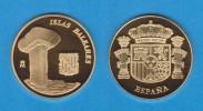 ESPAÑA / SPAIN   MEDALLA  ORO / GOLD    SC/UNC  PROOF  BALEARES   DL-7137 - España
