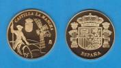 ESPAÑA / SPAIN   MEDALLA  ORO / GOLD    SC/UNC  PROOF  CASTILLA LA MANCHA   DL-7140 QUIJOTE - España