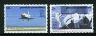 GRENADA-GRENADINES [Navette Spatiale] (1385/86**) [YT]  International Space Year-92 - Raumfahrt