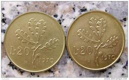 20 LIRE 1970 CON DIFETTO - 20 Lire