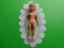 Rare Ancienne Poupee Jumeau Hauteur 16 Cm- Vendu Avec Napperon Realise  Au Crochet-- - Dolls