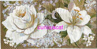 2 /  SINGLE COCKTAIL SIZE PAPER NAPKIN PAPIER SERVIETTE TOVAGLIOLIO WHITE LILY AND ROSE - Servilletas De Papel Con Motivos