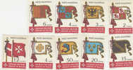 SMOM-1967 Flags 10-18 Set MNH - Malte (Ordre De)