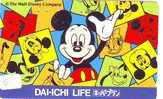 Telefonkarte Japan Télécarte DISNEY (51) Japon  Phonecard Japan * Mickey Mouse - Disney