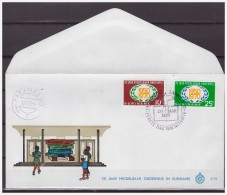 Surinam / Suriname 1970 FDC 74 20 Year Secondary Education Logo Kompas - Surinam
